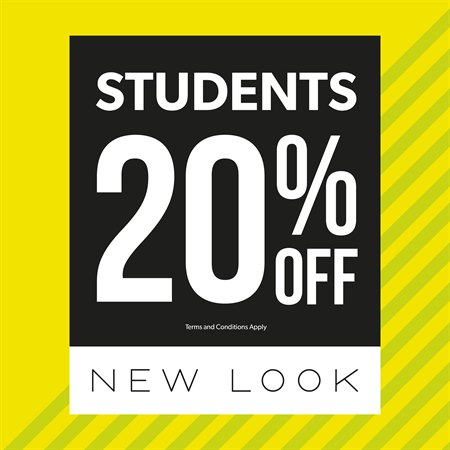 Get a 20% Student Discount at New Look